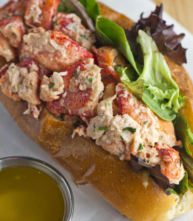 A buttery, delicious lobster roll